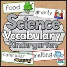 Kindergarten Science Vocabulary Cards