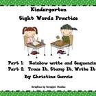 Kindergarten Sight Word Activities