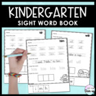 Kindergarten Sight Word Book