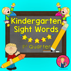 Kindergarten Sight Words Powerpoint - 1st Quarter {on PDF File}