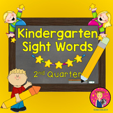 Kindergarten Sight Words Powerpoint - 2nd Quarter {on PDF File}