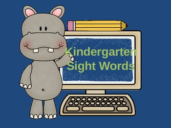 Kindergarten Sightwords FREE!