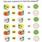 Kindergarten Snail Subtraction