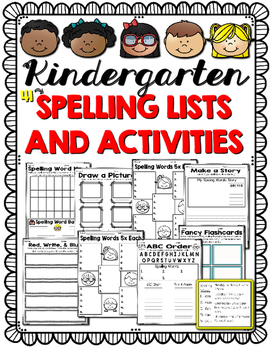 Kindergarten Spelling Homework/Activities for the Year!