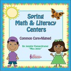 Kindergarten Spring FREEBIE + Math & Literacy Centers / Co