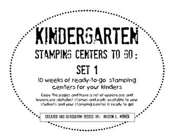 Kindergarten Stamping Centers Ready To Go Literacy Centers