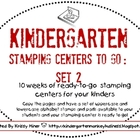 Kindergarten Stamping Centers Set 2