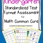 "Kindergarten ""Standardized Test Format"" Math Assessment Co"