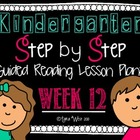 Kindergarten Step by Step Guided Reading Plans: Week 12