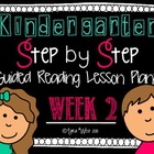 Kindergarten Step by Step Guided Reading Plans: Week 2