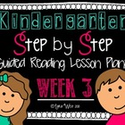 Kindergarten Step by Step Guided Reading Plans: Week 3