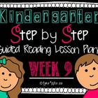 Kindergarten Step by Step Guided Reading Plans: Week 9