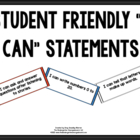 Kindergarten Student Friendly I CAN Statement CANS!  Musta
