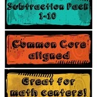 Kindergarten Basic Subtraction Packet 1-10 - Common Core Aligned