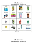 Kindergarten Supply List Eng/Span