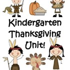 Kindergarten Thanksgiving Unit