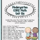 Kindergarten Unit 6 CORE Math