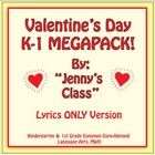 Kindergarten Valentine's Day FUN / Common Core-Aligned / M