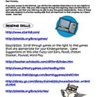 Kindergarten Websites List