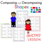 Kindergarten Worksheets:Composing and Decomposing Shapes