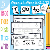 Writing Book - I go to - Read Write Sight Words