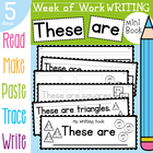 Kindergarten Writing Book - These are - 5 Day Book - 2D Shapes