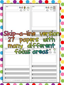 Kindergarten Writing Paper with Focus Areas for Student Fe