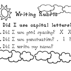 Kindergarten Writing Rubric