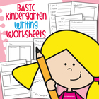 Kindergarten Writing Worksheets - Basic Text Types