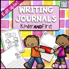 Kindergarten and First Grade Writing Journals