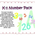 Kindergarten or 1st grade Number pack
