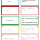 Kinetics / Reaction  Rate: Printable Flash (Study) Cards f