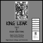 King Lear (test, Qs, and AP® ENGLISH LITERATURE FREE-RESPO