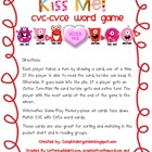 Kiss Me! CVC -CVCe Word Card Game (Valentine Monsters Theme)