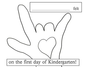 Kissing Hand Follow Up Writing Activity