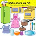 Kitchen Items Clip Art