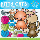 Kitty Cat Graphics Set - Commercial and Personal Use