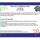Kitty Cats Multiplication 4s, 5s, 6s