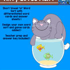 "Kitty Goes Fishing --Short Vowel ""a"" Word Sort"
