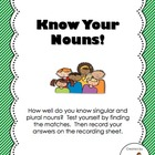 Know Your Nouns! - Singular vs. Plural Noun Center