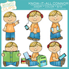 Know-it-All Connor Clip Art