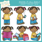 Know-it-All Emily Clip Art