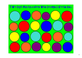 Koosh Ball Multiplication & Division with Decimals + BONUS
