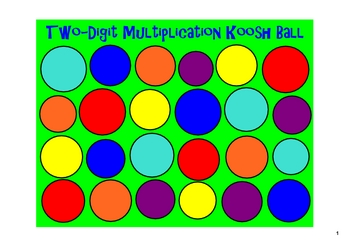 Koosh Ball Multiplication and Division with BONUS Fall Template