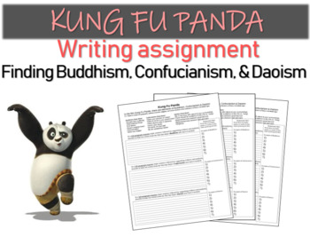Kung Fu Panda writing assignment