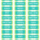 LABELS for Classroom Organization & Supplies: Blue, Green,