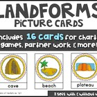 LANDFORMS Vocabulary & Picture Cards Social Studies Kinder