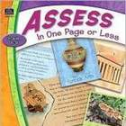 LANGUAGE ARTS: Assess in One Page or Less (Reading &amp; Writing)
