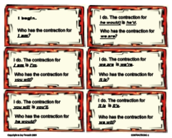 LANGUAGE ARTS -Contractions of Personal Pronouns - I Have,