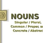 LANGUAGE: Nouns: Singular/Plural, Common/Proper, Concrete/
